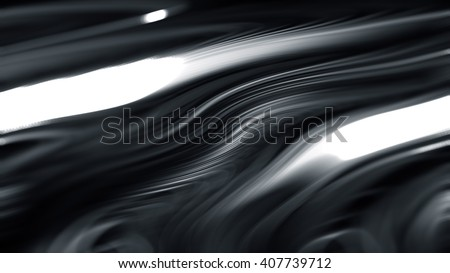 Beautiful white wavy lines or hair on a dark background.