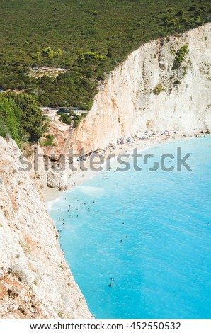 Beautiful wild beach in Greece, Porto Katsiki.