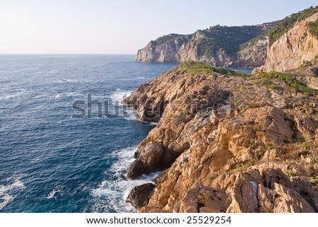beautiful wild coastline of Costa Brava, Spain - stock photo