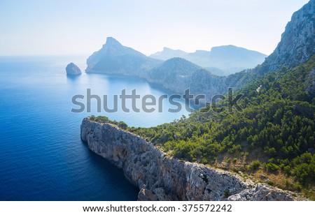 Beautiful wild seascape island of Majorca - stock photo