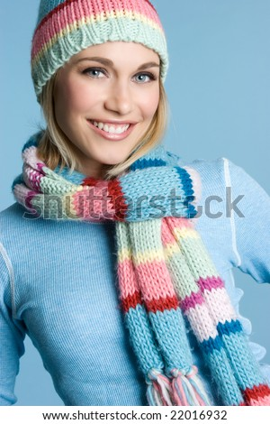 Beautiful Winter Girl - stock photo