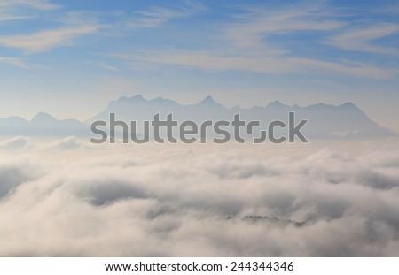 Beautiful winter landscape in Thailand - stock photo