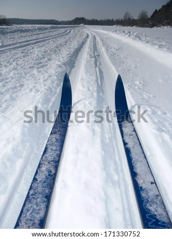 beautiful winter mood - stock photo