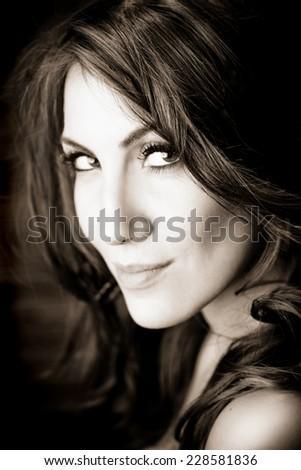 beautiful woman - stock photo