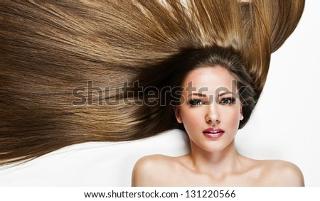 Beautiful Woman. Beauty Model Woman. Hairstyle. Woman Spa
