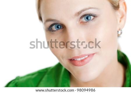 Beautiful woman close up - stock photo