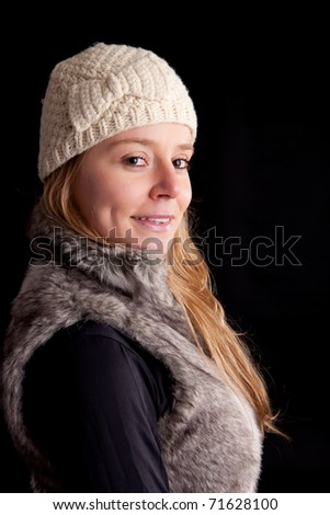 beautiful woman dressed for winter - isolated
