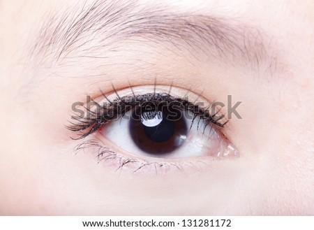 beautiful woman Eye close up, asian beauty - stock photo