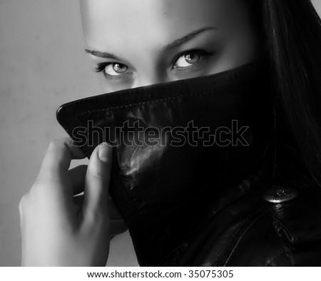 Beautiful woman eyes - stock photo