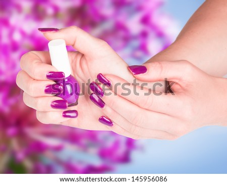 Beautiful woman Hands.Manicure concept  - stock photo