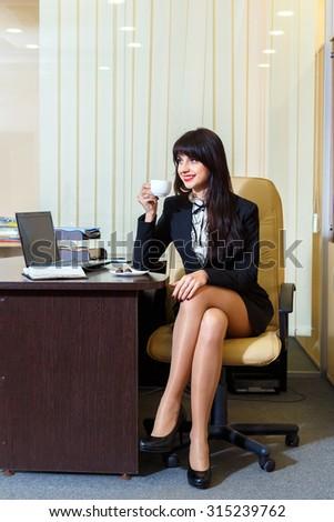 short skirt Girl office