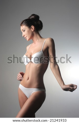 beautiful woman in lingerie - stock photo