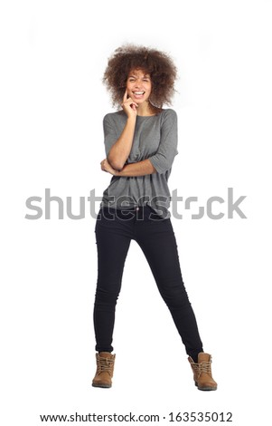 Beautiful woman is happy - stock photo