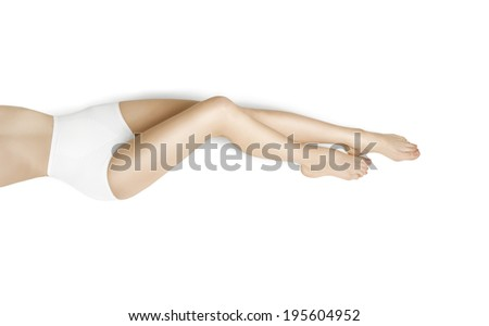 Beautiful woman legs, care for feet  - stock photo