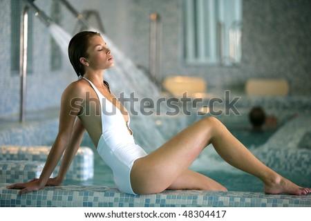 Beautiful woman on a spa day - stock photo