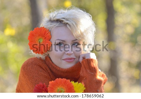 Beautiful woman outdoor portrait on a sunny day