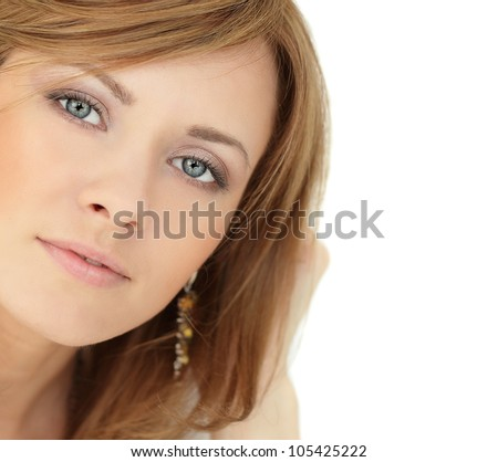 Beautiful Woman - portrait isolated on white