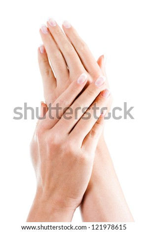 Beautiful woman's hands,Female hands