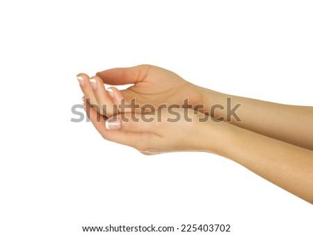 Beautiful woman's hands,Female hands - stock photo