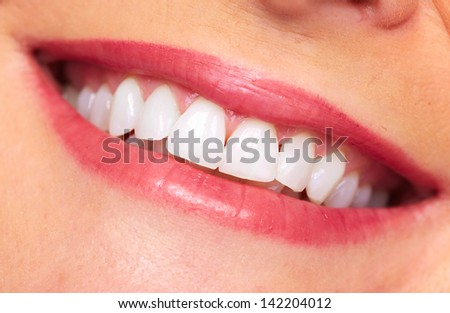 Beautiful woman smile. Dental care background.