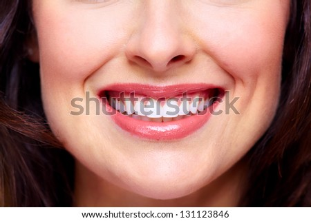Beautiful woman smile. Dental health background. - stock photo