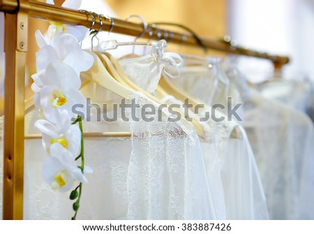 Beautiful woman underwear clothes on a hanger  - stock photo