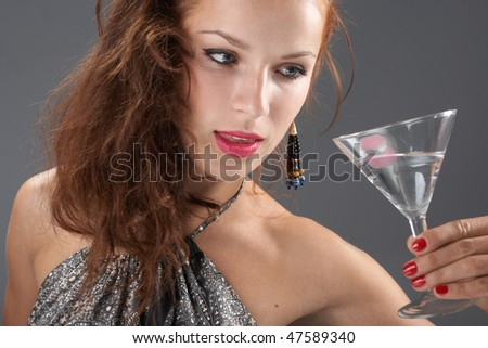 Beautiful woman with a cocktail