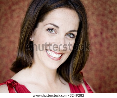 Beautiful Woman with a Happy Expression