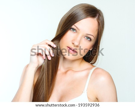 Beautiful Woman with Healthy Long Hair