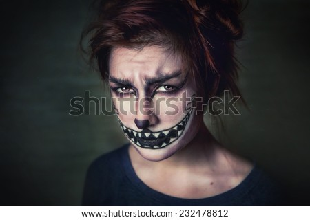 beautiful woman with make-up - stock photo