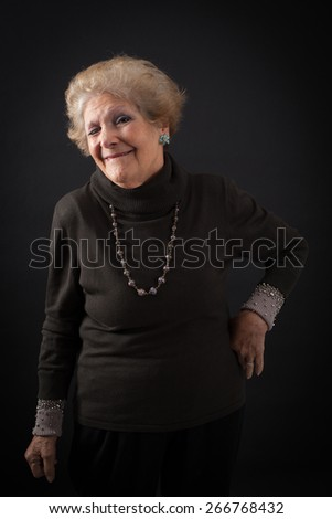 Beautiful women doing different expressions in different sets of clothes: blinking - stock photo