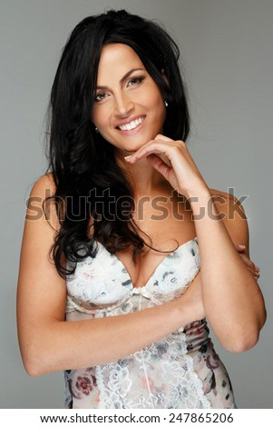 Beautiful women portrait - stock photo