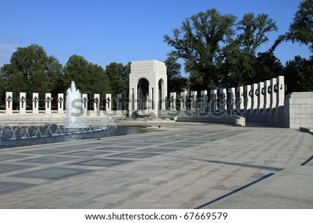 Beautiful World War II Memorial in Washington, DC - stock photo