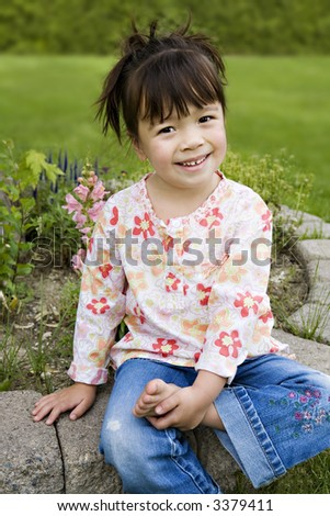 Beautiful 3yearold Girl Happy Expression Her Stock Photo