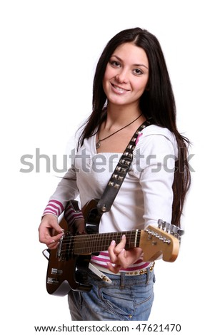 beautiful young and attractive woman - stock photo