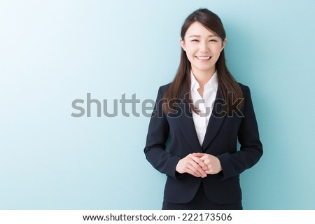 Beautiful young asian businesswoman - stock photo