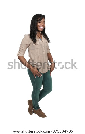 Beautiful young attractive woman modeling a pose - stock photo
