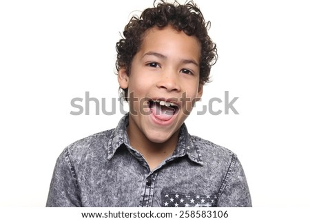 Beautiful young boy - stock photo