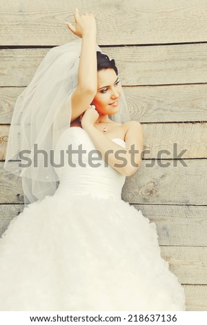 Beautiful young bride.  - stock photo