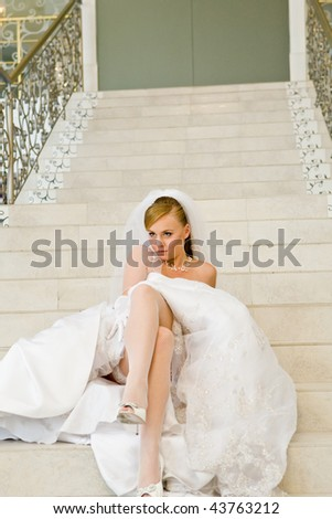 Beautiful young bride portrait