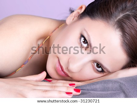 Beautiful young brunette woman - portrait