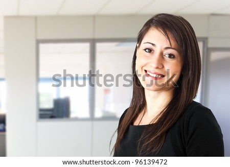 Beautiful young businesswoman portrait