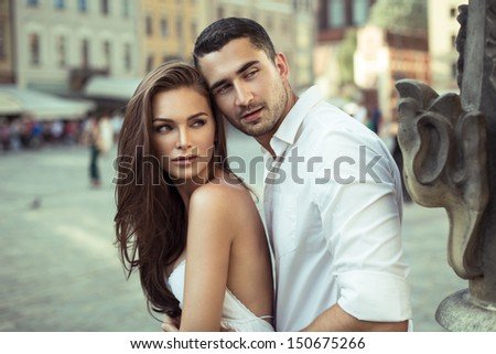 Beautiful young couple on vacation