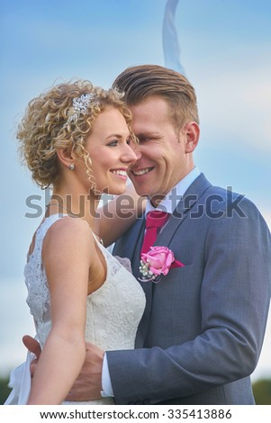 Beautiful Young Couple Wedding teme