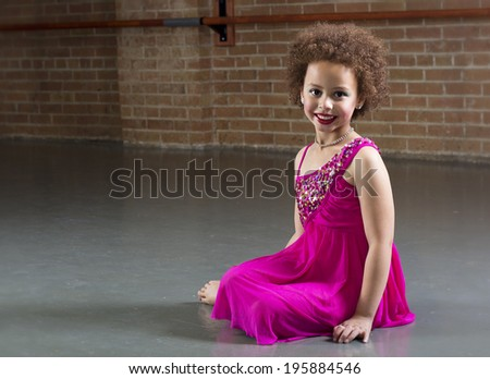 Beautiful Young Dancer portrait diversity - stock photo