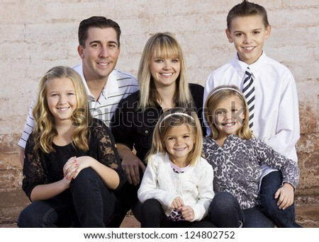 Beautiful Young Family - stock photo