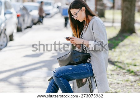 beautiful young fashion girl - stock photo