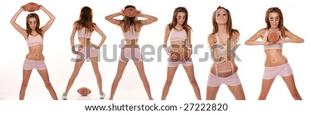 beautiful young female teen model - stock photo