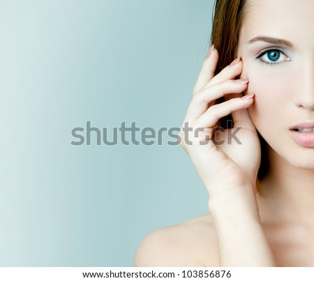 beautiful young girl - stock photo