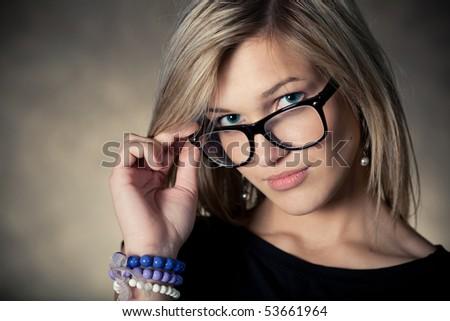 beautiful young girl - stock photo